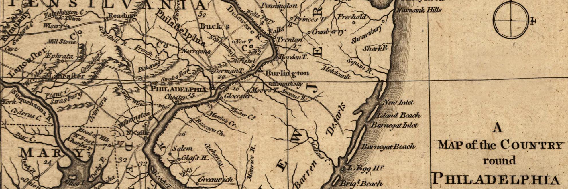 Philadelphia region 1776