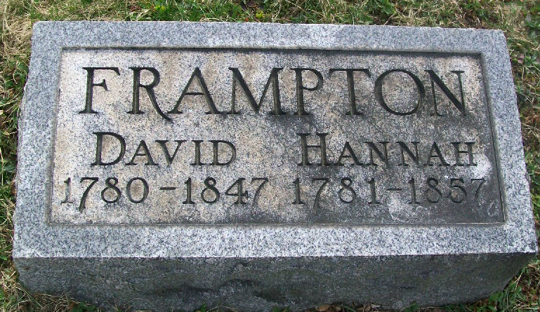 Tombstone David & Hannah Lobaugh Frampton