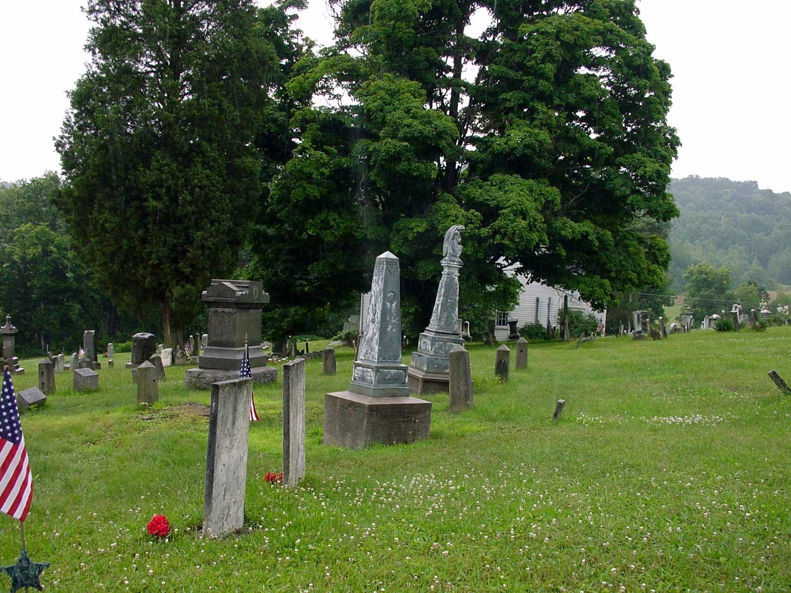 Centennial Cemetery Strattanville with Frampton tombstones 2004, Lynn van Rooijen