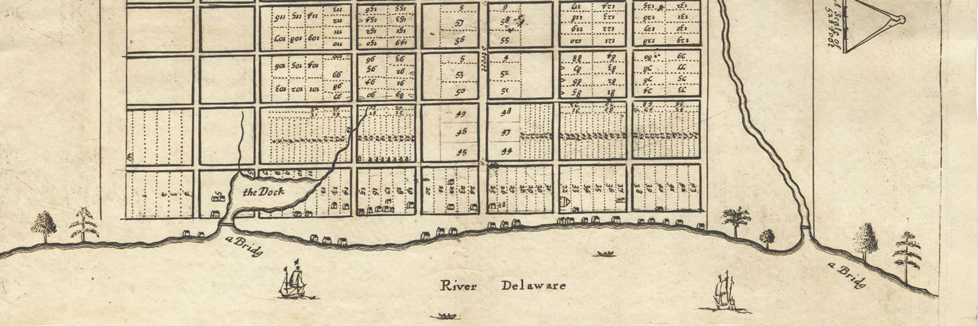 Holmes map of Philadelphia showing location of William Frampton property